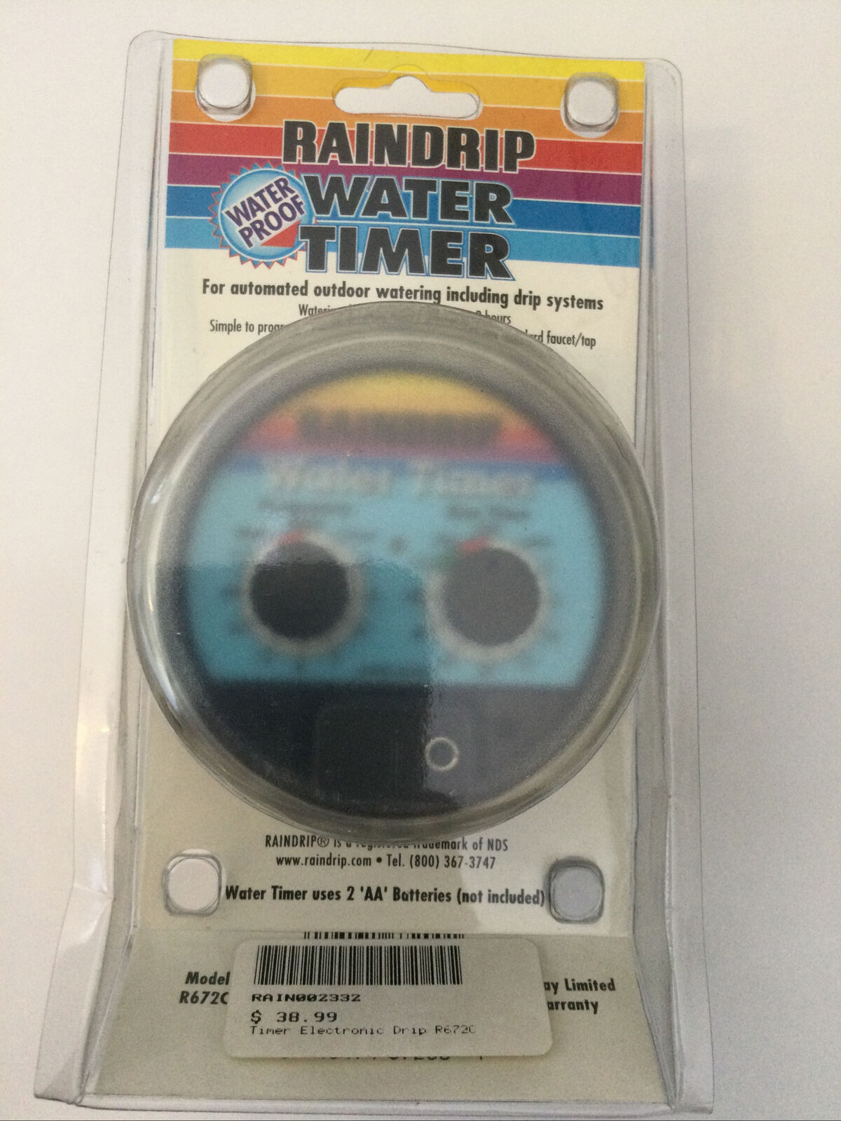 Raindrip R672C Water Timer for Automated Outdoor Watering/Drip Systems
