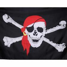 2 Large Jolly Roger Pirate Flag Skull Crossbones Caravan Camping Boat Kids 5x3FT