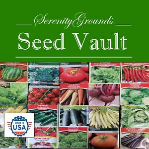 HEIRLOOM-Seed-Survival-Kit-Non-GMO-Vegetable-Seeds-50-Variety-Mix-US-SELLER