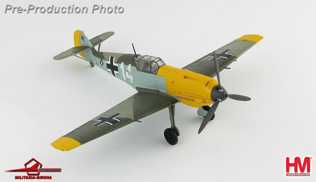 Hobby Master 1 48 HA8706 Messerschmitt Bf 109E blanc 14 H. Marseille France 1940