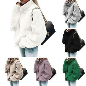 Women-Winter-Turtleneck-Baggy-Knitted-Oversized-Sweater-Jumper-Pullover-Top-Surp