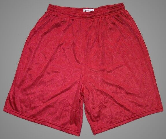 Red Nylon Mini Mesh Longer Shorts by Soffe - Men's 2XL