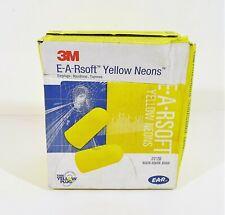 Box Of 200 Pairs 3m E A Rsoft Yellow Neons Foam Safety Earplugs 312 1250 New