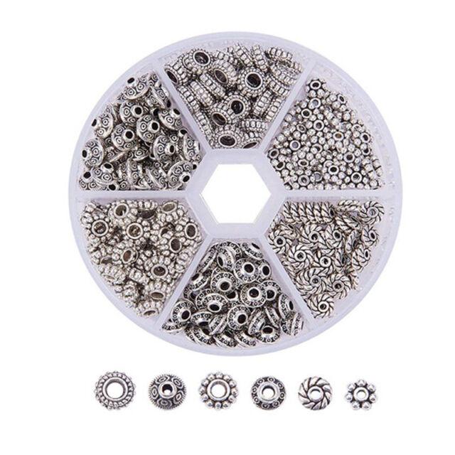 300x 1 Box Tibetan Silver Spacer Beads Jewelry Finding Bracelet Jewelry MakAUBU