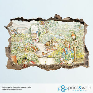 Image Is Loading Beatrix Potter Peter Rabbit Wall Smash Decal Sticker  Part 74
