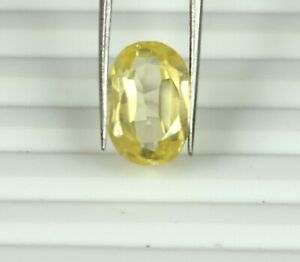 Loose Gemstone 8.75 Ct Yellow Sapphire Natural Fancy Oval Cut Certified S7282