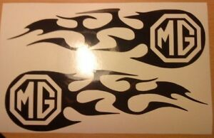 2x-medium-12x4-034-mg-tribal-flames-vinyl-car-side-stickers-graphics-decals-racing