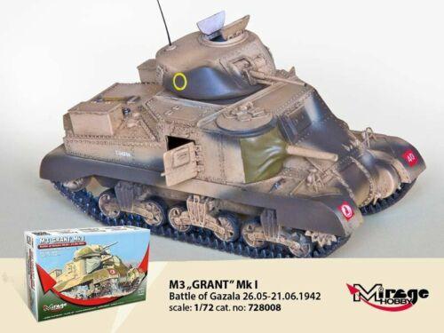 "MIRAGE 1//72 WW2 Vehicle UK M3 Grant Medium Tank /""Battle of Gazala/"""