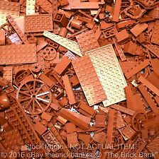 LEGO 1/4lb REDDISH-NEW-BROWN Bulk Pound Lot-SANITIZED-PAIRS MATCHED-Brick Piece