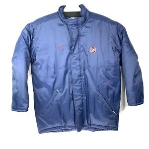 VTG-Nike-Official-Team-USA-Olympic-Hockey-Mens-Sz-Medium-Blue-Insulated-Coat