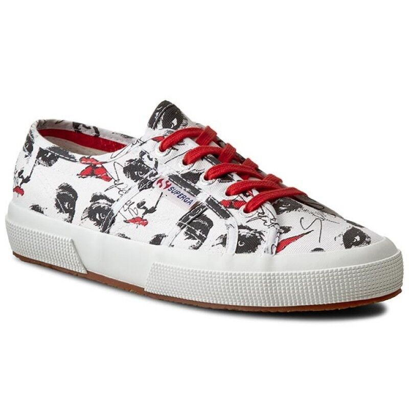 Superga 2750 Fantasy Cotu Fashion Sneakers Women's -Face White Black Red S008E20