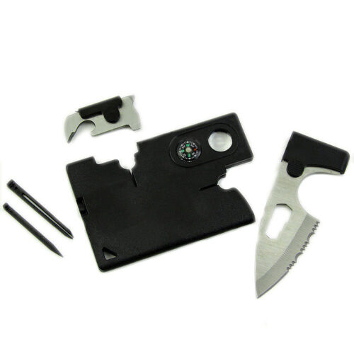 10 in 1 Survival Multitool Outdoor Camping Tool Survival Kit Credit Card w//