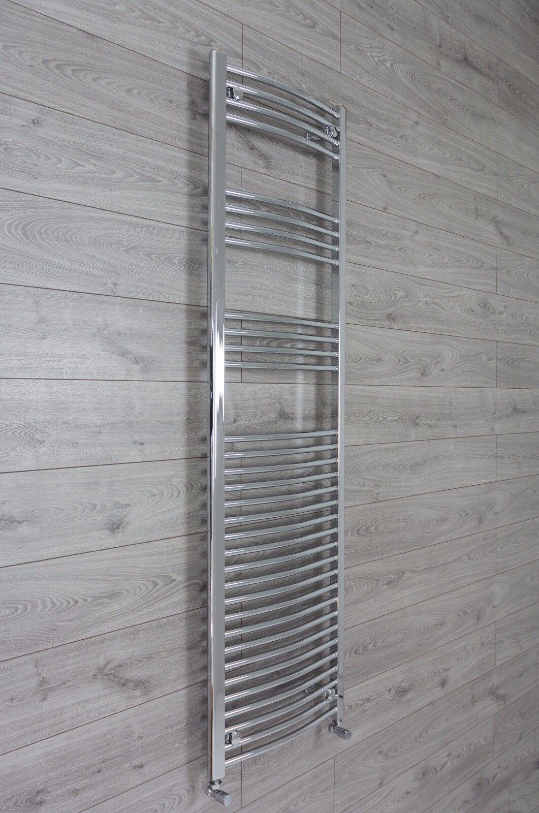 1800 1760 mm haut 500 ou 600 Large Plat Courbé Chrome Sèche-serviettes Radiateur