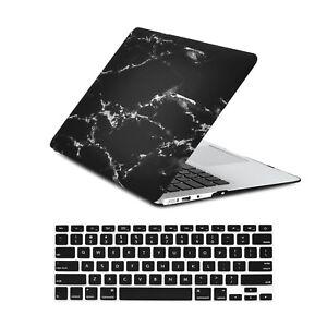 "Unik Case-2 in 1 Marble Matte Hard Case/&Silicone Skin for Macbook 13/"" Air-White"