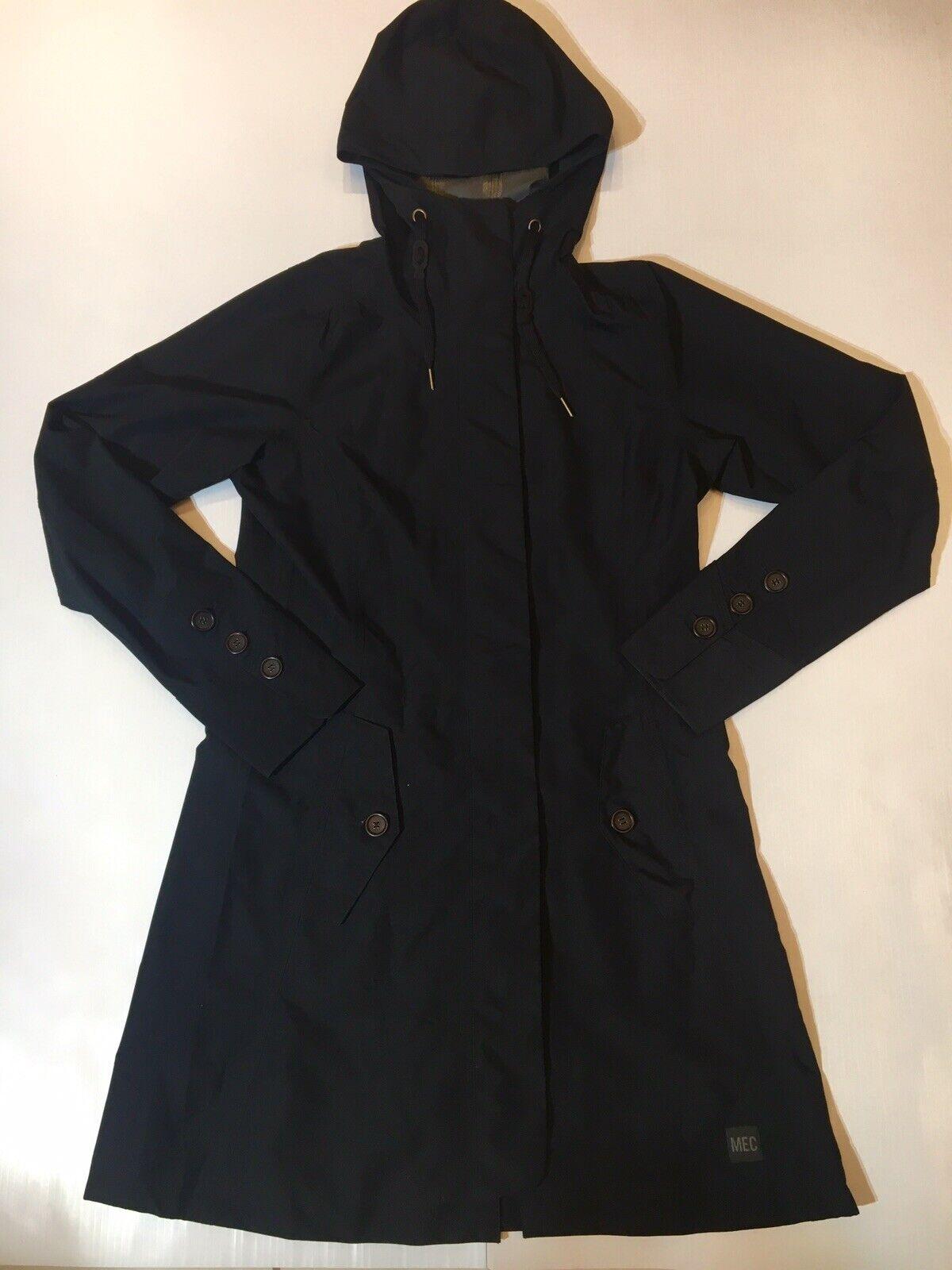 New Womens Small MEC Waterproof Seamless Trench Coat