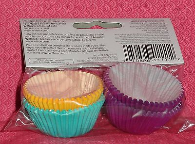 Mini Cupcake Papers,wilton,multi-color,100 Ct Orderly Purple,teal,gold,jewel Tone Neither Too Hard Nor Too Soft