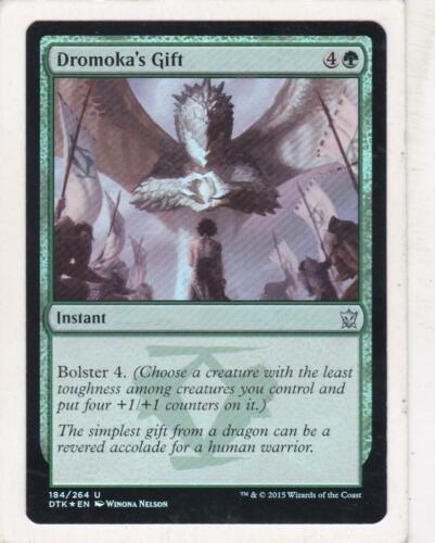 Foil Magic Dragons of Tarkir Dromoka/'s Gift MTG