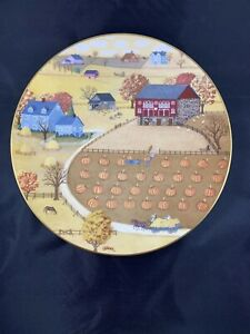 Royal-Doulton-Plate-Pumpkin-Patch-by-C-A-Brown-Limited-Edition-1978-Vintage