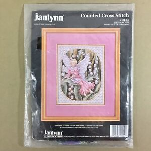 Lily-Maiden-counted-cross-stitch-kit-Teresa-Wentzler-fairy-Janlynn-new-sealed
