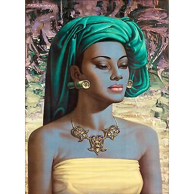 Balinese Girl by Tretchikoff Home Decor Canvas Print. Framed or Unframed