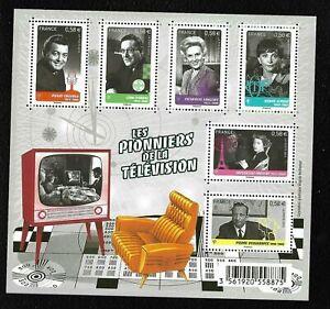 Bloc-Feuillet-2013-N-F4811-Timbres-France-Neufs-Les-Pionniers-de-la-Television