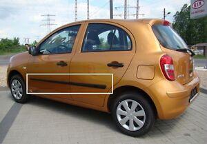Cuerpo-Protector-de-moldeo-por-Puerta-Lateral-Molduras-Moldura-4-un-Ajuste-Nissan-Micra-5D-2010-16