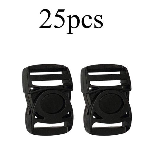 Plastic Side Release Clips Adjuster Buckles Backpacks Webbing Straps 25mm x 55mm