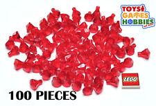 *NEW* 100x Lego Rock 1x1 Jewel Treasure Diamond Gem Ruby Trans Red Castle Mine