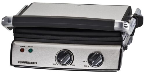 Rommelsbacher Contact Grill Kg 2020 Stainless Steel Sandwich Toaster elektrogrill kg2020