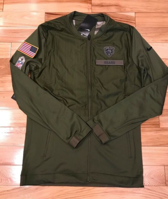 a97ce1fe4 Nike Chicago Bears 2018 Salute to Service Hybrid Jacket Men s MEDIUM NWT
