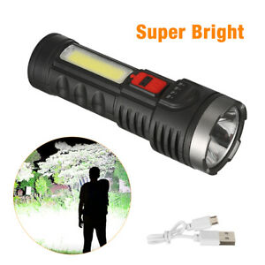 Super Bright 10000000LM LED Torch Tactical Flashlight USB Rechargeable + Battery