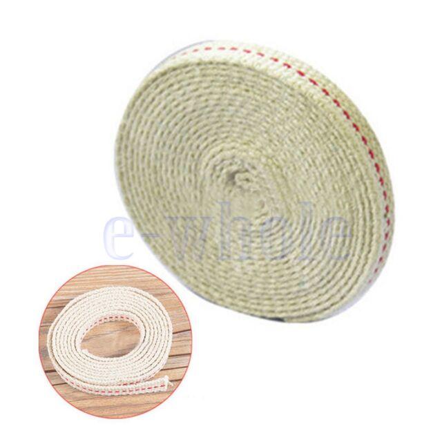 Flat Cotton Oil Lamp Lantern Wick 10mm For Kerosene Burner Lighting 5 Feet WS