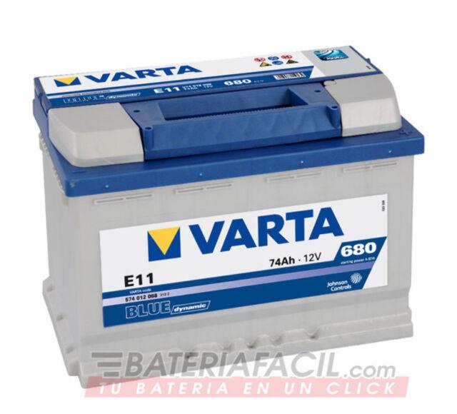 Bateria Varta E11- 74Ah 12V 680A. 278x175x190