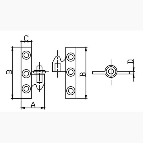 """#2034KB-R 1/"""" x 1-5//8/"""" Right Brass Take-Apart Knuckle Hinge"""