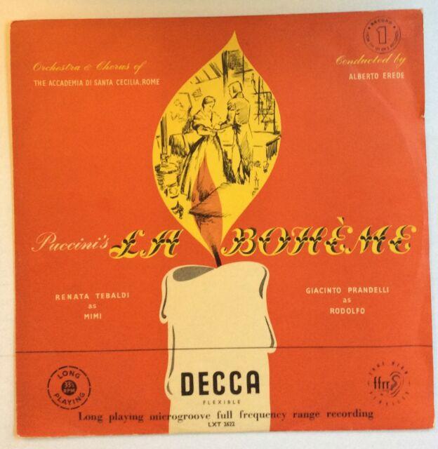 Giacomo Puccini,Renata Tebaldi,Giacinto Prandelli La Boheme - Record 1 UK LP