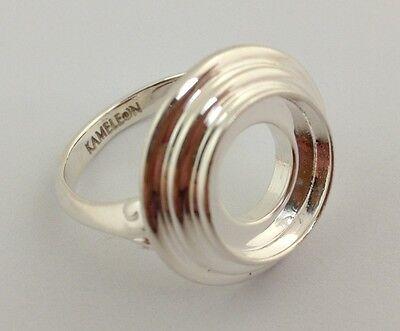 New Authentic Kameleon 925 Silver 3 Tier Tabletop Ring Kr-20 Kr020  Size 7