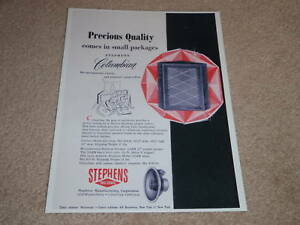 Stephens-Columbian-Speaker-Ad-1955-Specs-Article