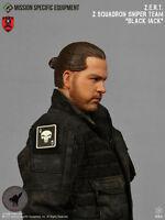 1/6 Action Figure Toy Mse Zert Urban Sniper Blk Jack Head Sculpt & Neck Joint 33