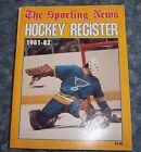 the sporting news hockey registar1981-82 Mike liut NHL