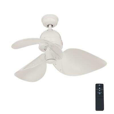 32 Inch Indoor White Ceiling Fan With