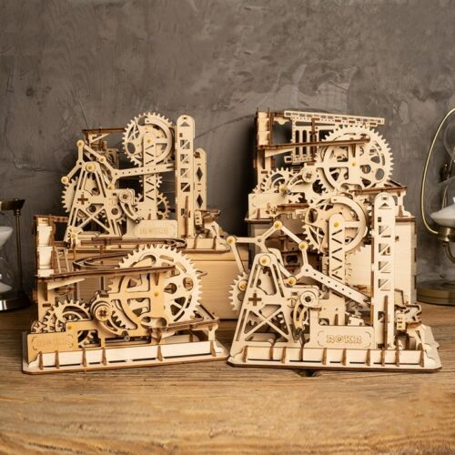 ROKR DIY Toy Marble Run Building Gear Model Construction Kits 3D Wooden Puzzle