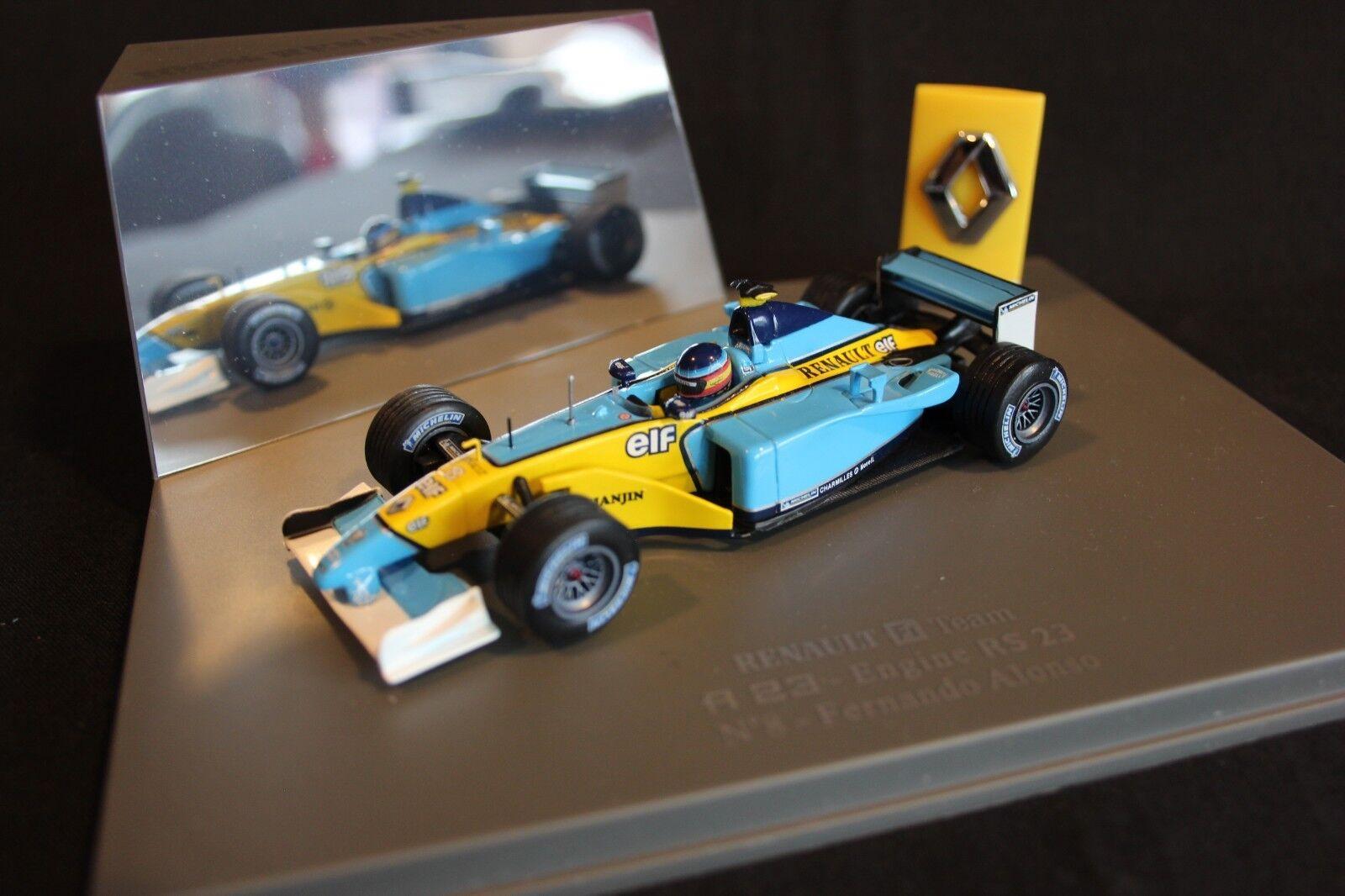 Universal Hobbies Renault R23 2003  presentation  1 43  8 Fernando Alonso (ESP)