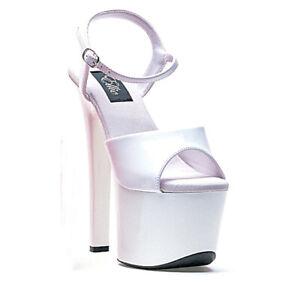 Ellie 711-FLIRT White 7 inch Heel Sandal