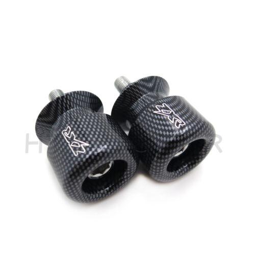Carbon 10mm Swingarm Spools For Kawasaki Ninja 250R 650R Zx 6R 9R 10R 12R 14R Zz