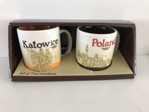 KATOWICE+POLAND Starbucks Demi,demiset,mini cups,espresso Tassen 3oz,Icon Serie