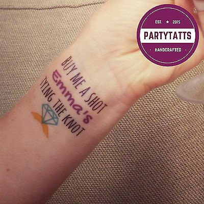Personalised hen night tattoos x10 1 for