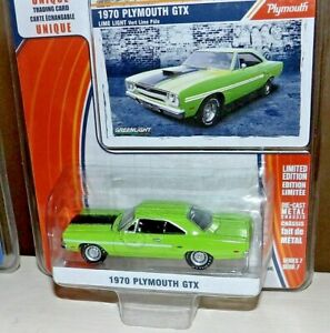 GREEN 1971 PLYMOUTH HEMI CUDA Diecast Model Car By Greenlight NEW 1:64 GREENLIGHT MUSCLE SERIES 18 COLLECTION