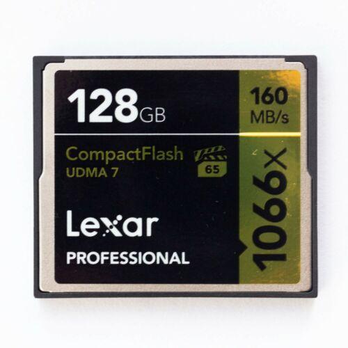 Lexar Profesional 128GB Compact Flash Tarjeta de memoria 160MB//s cf 1066x UDMA 7 UDMA 7