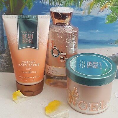 bath and body works vanilla bean noel creamy body scrub shower gel body butter