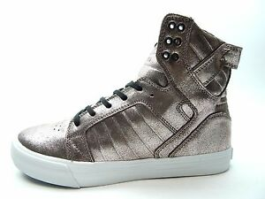 promo code d16fa a036d Image is loading SUPRA-SKYTOP-ROSE-GOLD-METALIC-WHITE-MEN-SHOES-